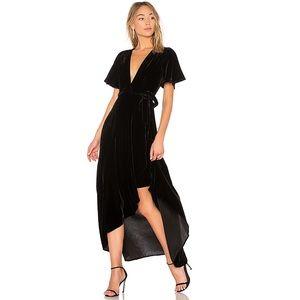 Privacy Please Krause Black Velvet Wrap Dress NWT